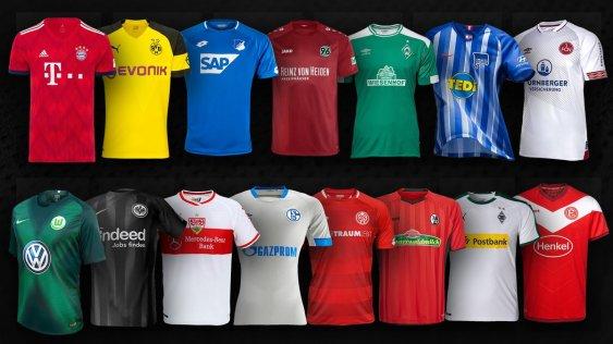 Novas camisas da Bundesliga e 2. Bundesliga para a temporada 2018 ... 0336f493a03d1
